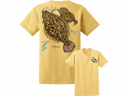 David Dunleavy DDM8015 Flounder Tee Yellow