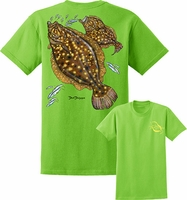 David Dunleavy DDM8015 Flounder Tee Lime Green