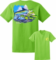 David Dunleavy DDM8021 SH Marlin Tee Lime Green