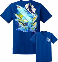 David Dunleavy DDM8022 Mako Shark Tee Royal Blue