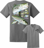 David Dunleavy DDM8023 Striped Bass Tee Athletic Heather