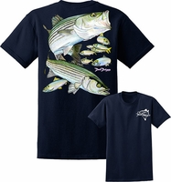 David Dunleavy DDM8023 Striped Bass Tee Navy