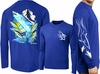 David Dunleavy DLW8022 Mako Shark Long Sleeve Tee Royal Blue