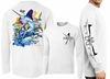 David Dunleavy DMW8032 White Marlin Long Sleeve Tees