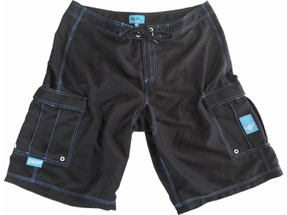 Deep Ocean BSHFBL Hydro-Freak Boardshorts - Black
