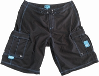 Deep Ocean BSHFBL Hyrdo-Freak Boardshorts - Black