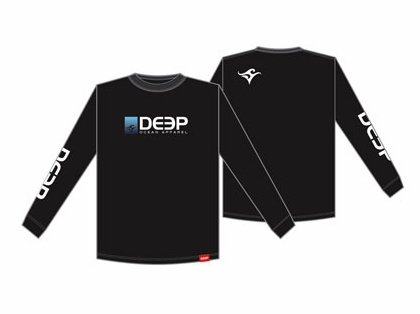 Deep Ocean Long Sleeve T-Shirt Black