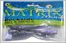 Dockside Bait and Tackle Matrix Shad Soft Bait - Midnight Mullett