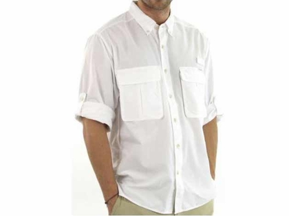 ExOfficio Men's Air Strip Lite Long-Sleeve Shirt White