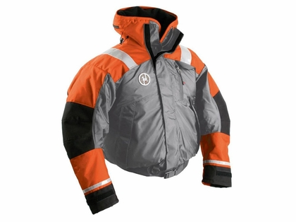 First Watch AB-1100-OG Flotation Bomber Jacket Gray/Orange
