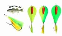 Free Chartreuse Synthetic Bucktail 9/0 Stinger Hook