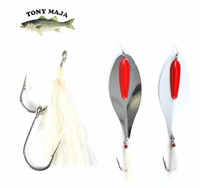 Free White Synthetic Bucktail 9/0 Stinger Hook