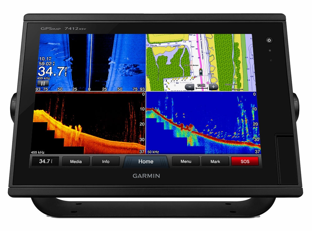 garmin gpsmap 7412xsv chartplotter/sonar combo | tackledirect, Fish Finder