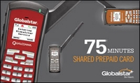Globalstar GSP-1700USA-SHA-75 Shared 75 Minute Prepaid Card