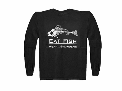 Grundens Gage Eat Fish Long Sleeve Tee Shirt