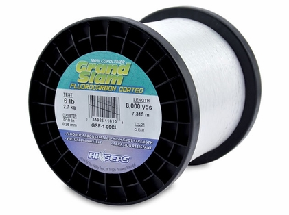 Hi-Seas GSF-1-06CL Grand Slam Fluorocarbon Coated 6lb 1lb Spool
