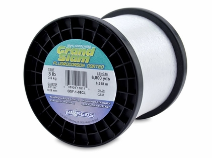 Hi-Seas GSF-1-08CL Grand Slam Fluorocarbon Coated 8lb 1lb Spool