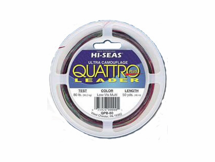 Hi-Seas Quattro Plus Low-Vis Camo Leader 50 yd. Coil