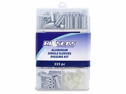 Hi-Seas TKB00001 Aluminum Single Sleeves Rigging Kit, 335 Pieces