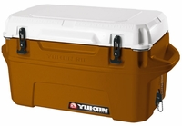 Igloo Yukon Cold Locker 50 Quart Cooler - Burnt Orange/White