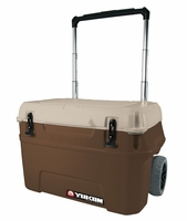Igloo Yukon Cold Locker 50 Quart Roller Cooler - Dark Tan/Tan