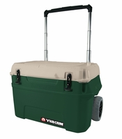 Igloo Yukon Cold Locker 50 Quart Roller Cooler - Huntergreen/Tan