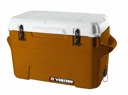 Igloo Yukon Cold Locker 70 Quart Cooler - Burnt Orange/White