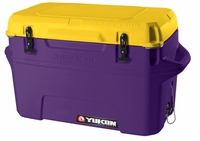 Igloo Yukon Cold Locker 70 Quart Cooler - Purple/Gold