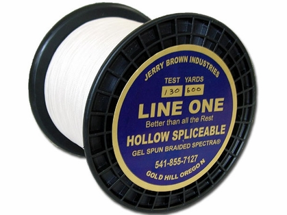 Jerry Brown Line One Hollow Core Spectra Braided Line 150yds 500lb