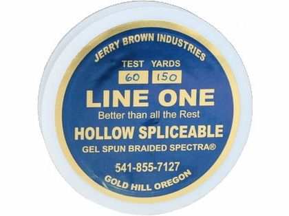 Jerry Brown Line One Hollow Core Spectra Braided Line 150yds 60lb