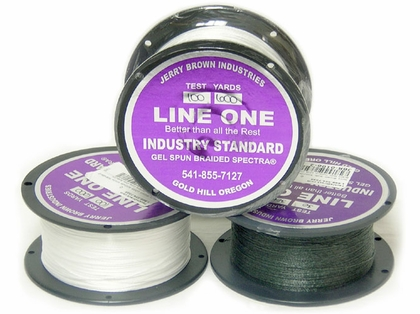 Jerry Brown Line One Non-Hollow Spectra Braided Line 150yds 30lb