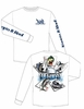 Keepn It Reel Long Sleeve Full Boat Tee -White