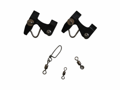 Lewis Fishing 202 Kite Pin Kit 2 Drilled with Swivels