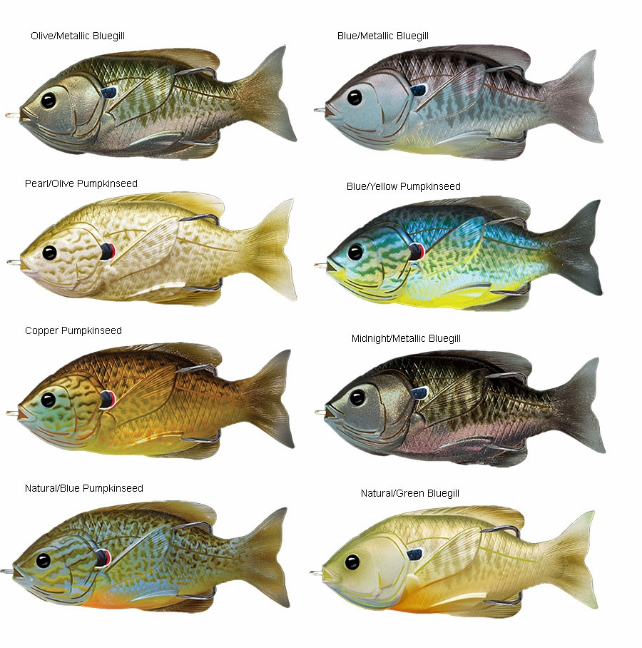 livetarget sunfish hollow body top water lures | tackledirect, Hard Baits