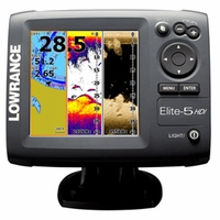 Lowrance Elite-5 HDI Fishfinder/Chartplotter Combos with Transom Mounts