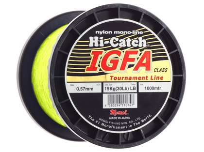 Momoi Hi-Catch IGFA Nylon Monofilament 20Lb 662Yd 1/4 Spool