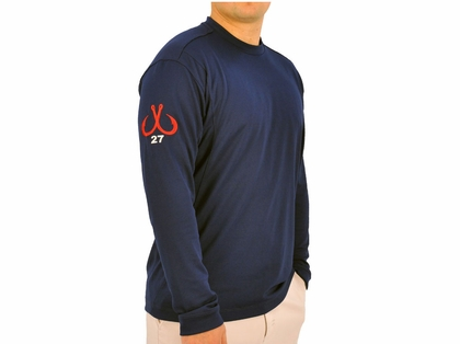 Montauk Tackle Crew Neck MTCDryprotect Shirt Navy