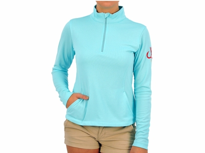 Montauk Women's Performance 1/4 Zip Shirt Aqua