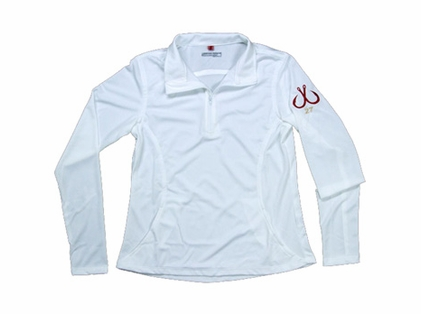 Montauk Women's Performance 1/4 Zip Shirt White