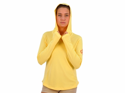 Montauk Women's Performance Hoodie Yellow