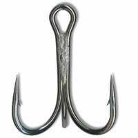 Mustad 36329NP-BN Ultra Point Treble 3X Strong 1 Hook 5pk