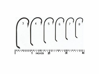Mustad 4011E 4 Hollow Point Virginia Hook