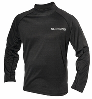 Navigation NAVLSMNH-BK Mock Neck LS Tee Black