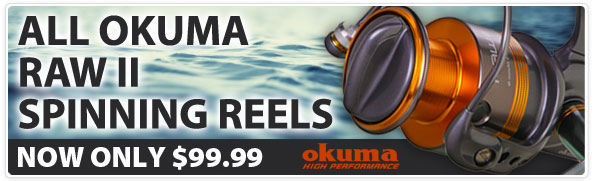 Okuma Raw II Spinning Reels Sale