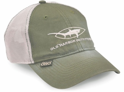 Old Harbor Outfitters Vintage Thresher Trucker Hat Olive/Khaki