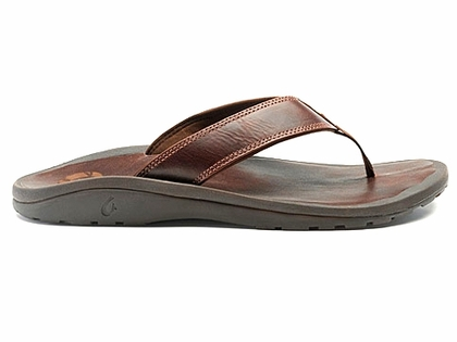 OluKai Ohana Leather Men's Sandal - Dark Java/Dark Java