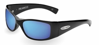 Pelagic 1010 Baja Sunglasses Gloss Black/Blue Mirror