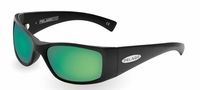 Pelagic 1010 Baja Sunglasses Matte Black/Green Mirror