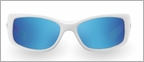 Pelagic 1010 Baja Sunglasses White/Blue Mirror