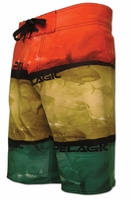 Pelagic 4Tek Shorts Rasta Tuna